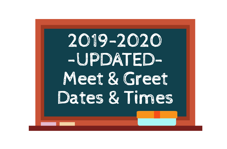-UPDATED- CSD 2019-2020 Meet & Greet Times